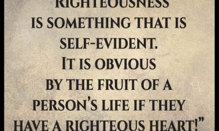 I'm not sure I understand what righteousness really is. Can you help me?