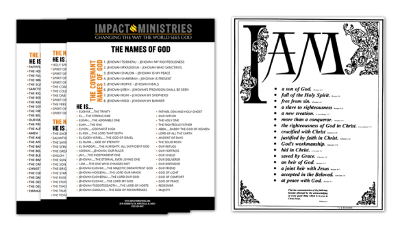 Names of God and I AM poster