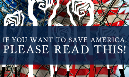 If you want to save America, please read this.