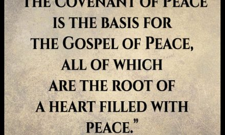 """I'm not sure I understand this whole """"Covenant of Peace."""""""