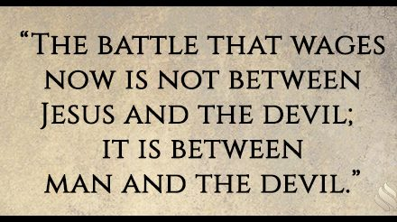 Won't there be a last battle where God finally wins over the devil?