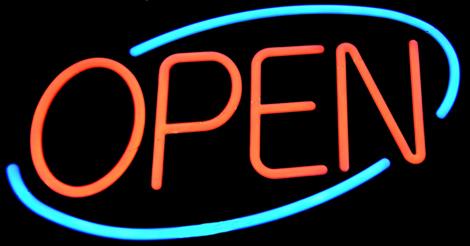 Come on in The door is open