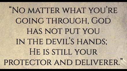 God didn't hand Job over to the devil!
