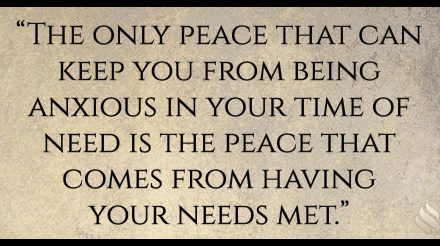 Peace like you've never known!