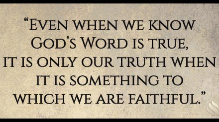 Sometimes it's hard to understand the truth of God's Word!