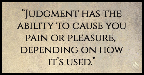 How to Stop the Pain: Judgment